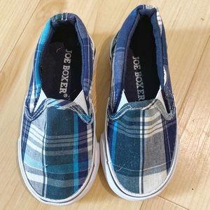 Joe Boxer Plaid Kids Shoes Size 7
